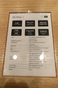 Mi Max 2-Specification