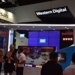 Western Digital Stand in Intersec 2018 in Dubai, UAE