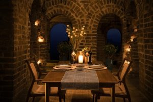 A Beautiful Dinner under the open sky for two