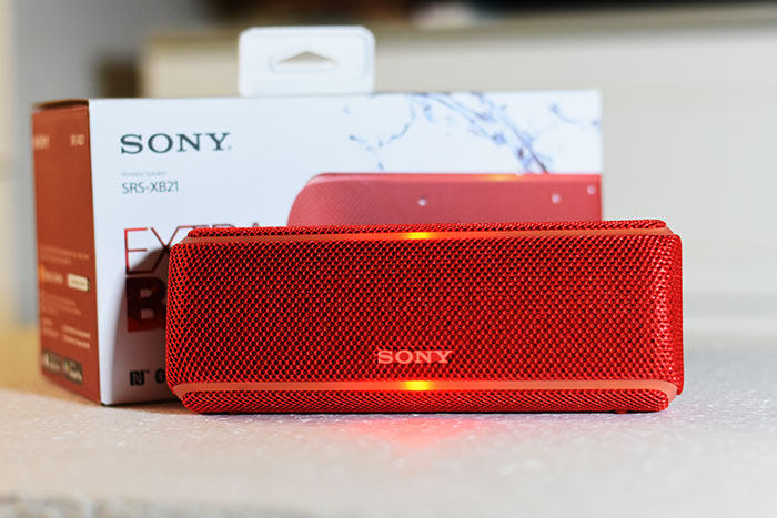 Sony-SRS-XB21 with LED light which works with beat of the music