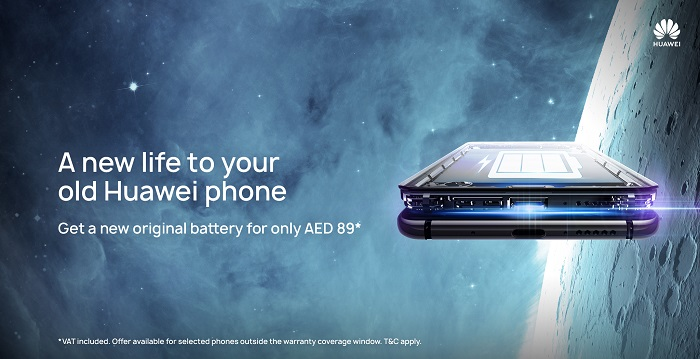 Huawei to provide eco-friendly battery replacement service on selected devices in UAE till 31st March 2019