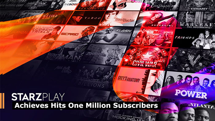 STARZ PLAY Achieves Hits One Million Subscribers