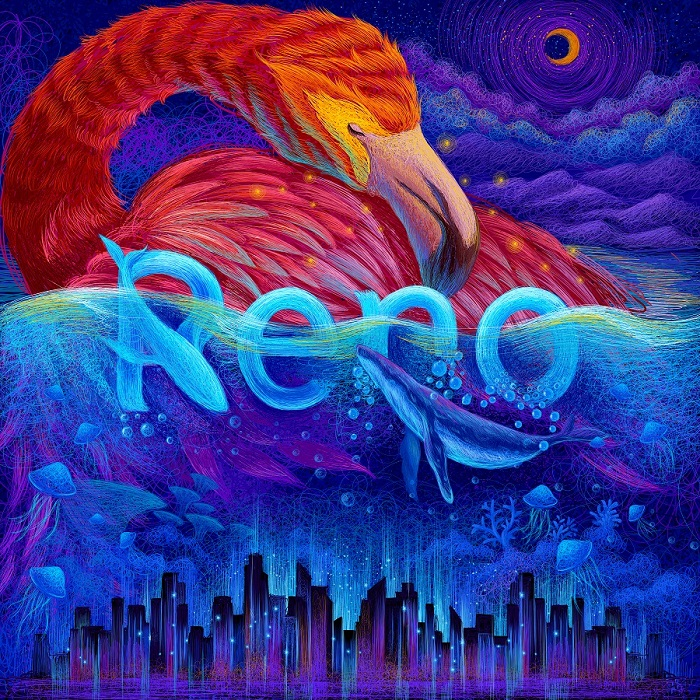 RENO representation by an artist