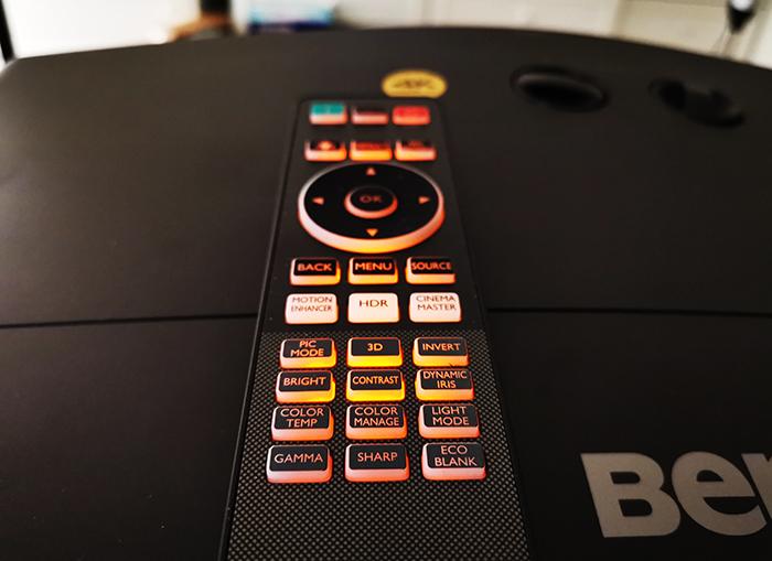 BenQ-CinePrime-W5700-Projector-BackLit_Remote_Controller