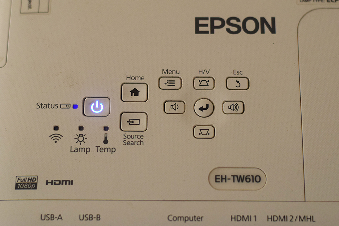 Epson-EH-TW610-Menu_control_on_the_Unit
