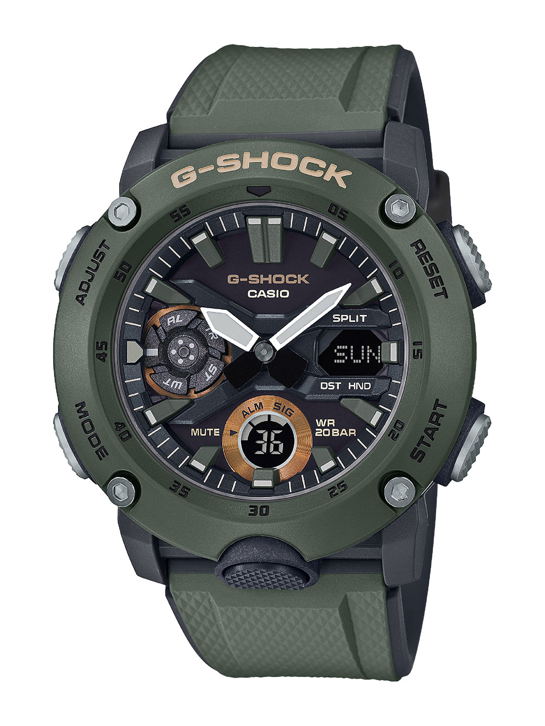 G-SHOCK-GA-2000-Military-Color-Olive-Green