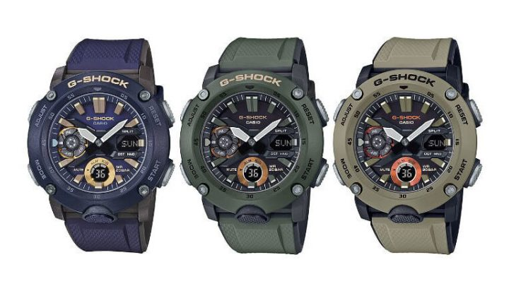 Casio G-SHOCK (GA-2000 Military Color Series) Launched for the Middle East