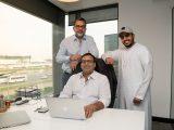Naseer Ahmed (CSO & Co-Founder), Abhinav Chaudhary (CEO & Co-Founder) and Abdulla Al Shaibani (Co-Founder & Investor)