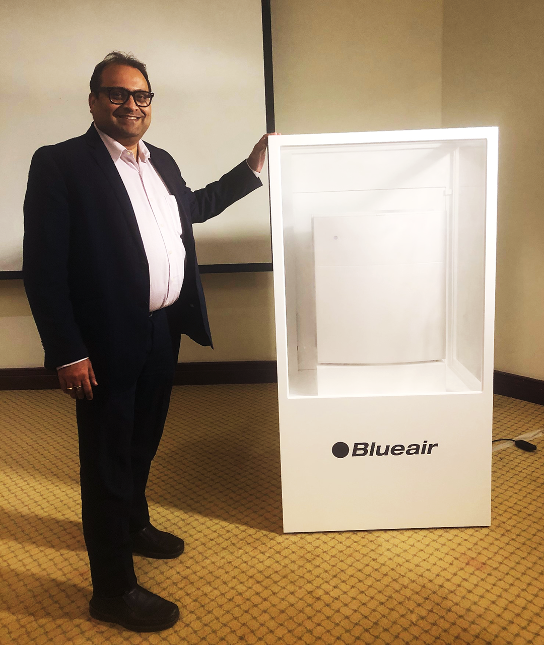 TR-Ganesh with Blueair Product-at-the-Saudi-launch