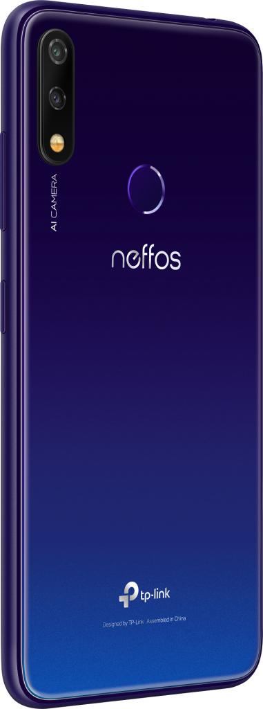 neffos X20-back-left-Aurora Purple