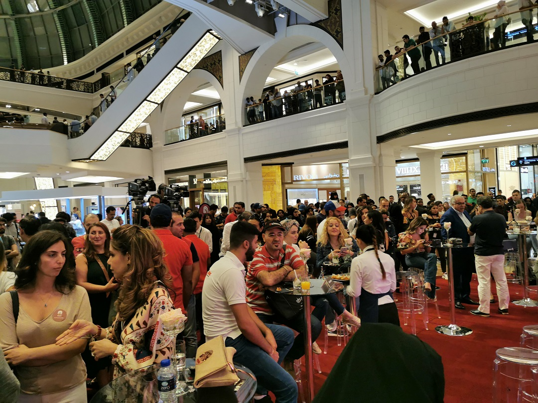 Crowd gathered at MAF- Share launch event - at Mall Of Emirates
