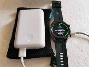 Anker-PowerCore-II-10000-Power-Bank-charging-Smart-Watch