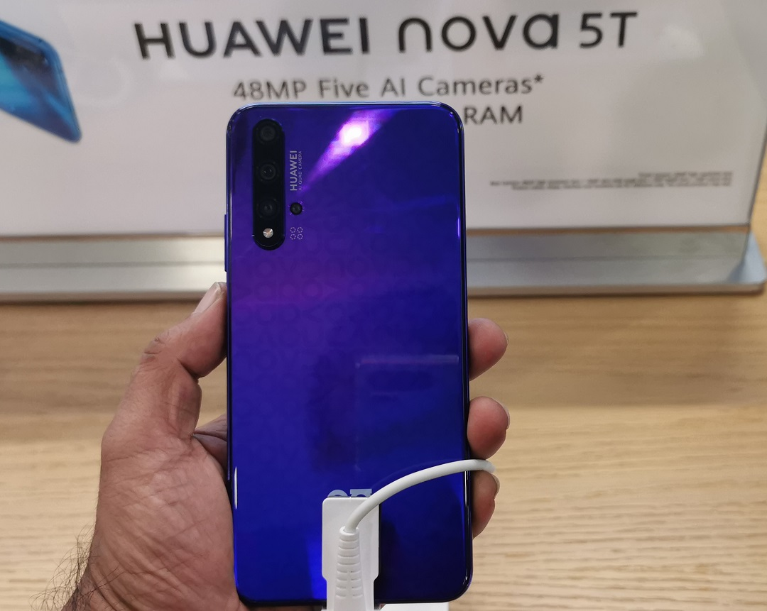 Huawei Nova 5T Smartphone-Back Panel with Quad Cameras
