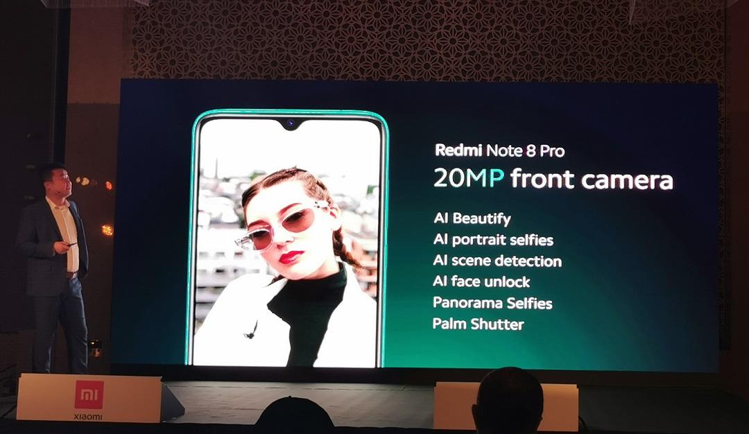 Xiaomi Redmi Note 8 Pro- Front Camera
