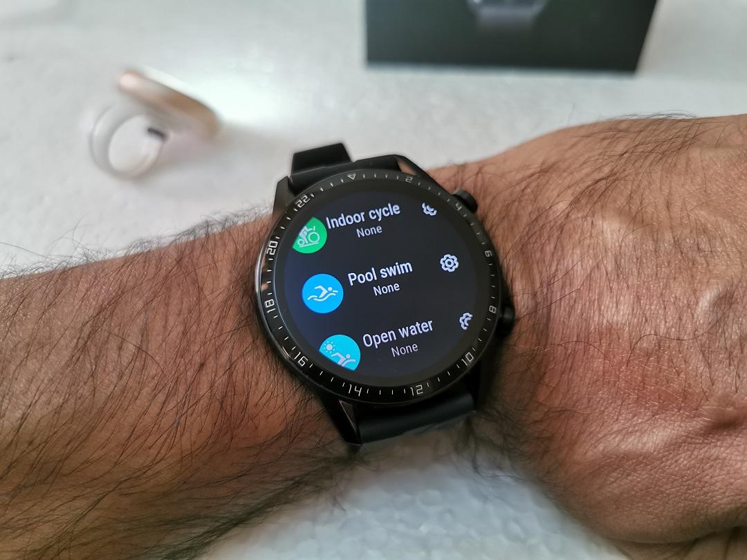 Huawei GT2-Watch- Swimming