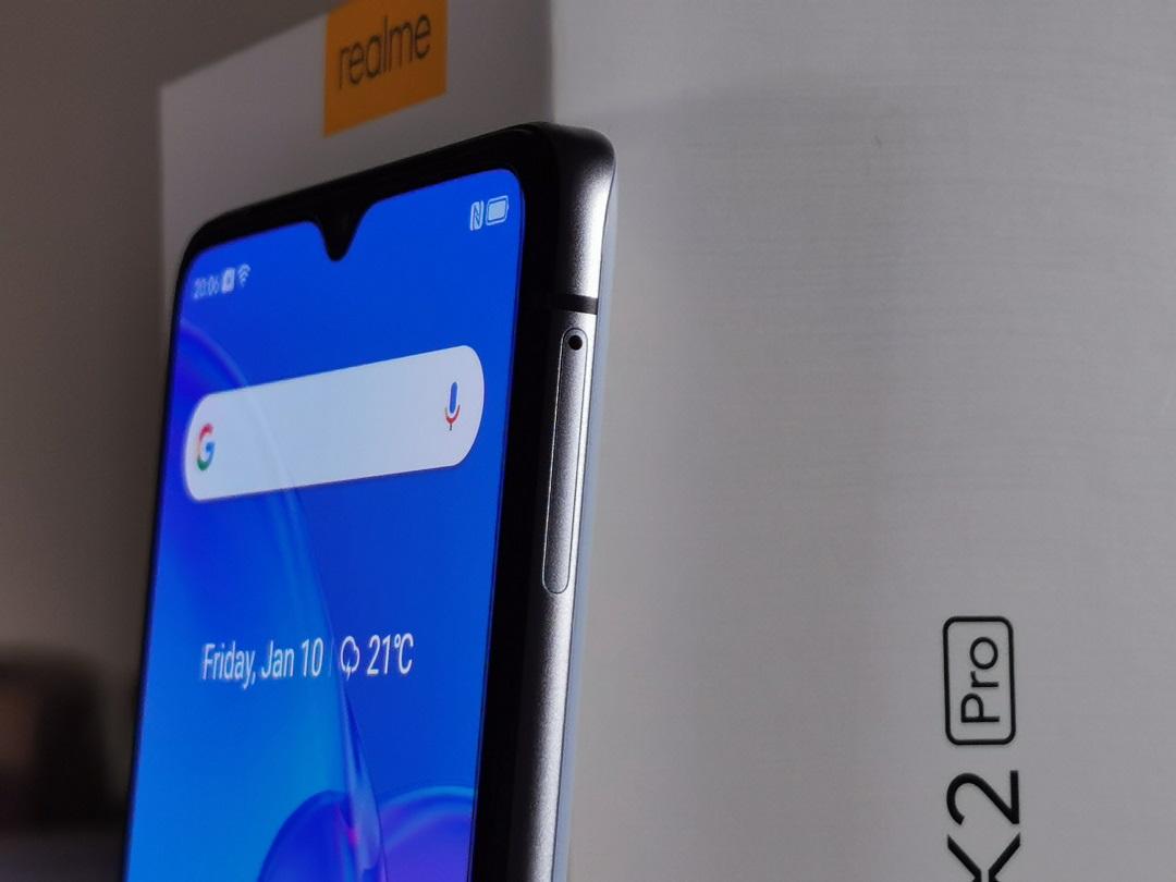 Realme X2 Pro Smartphone - Right-side- Dual Nano SIM Card Tray