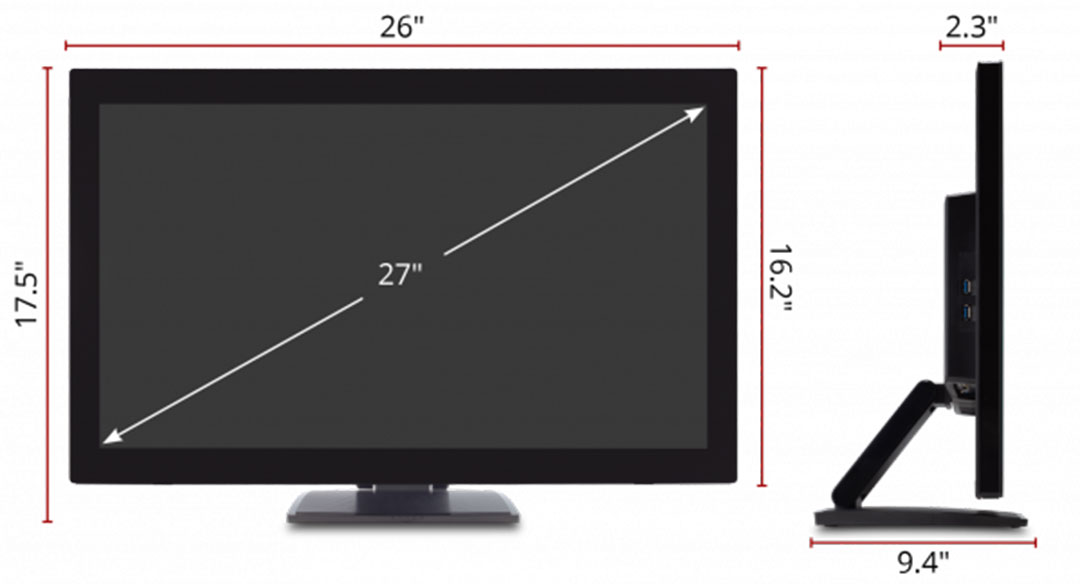 ViewSonic-TD2760-Dimensions