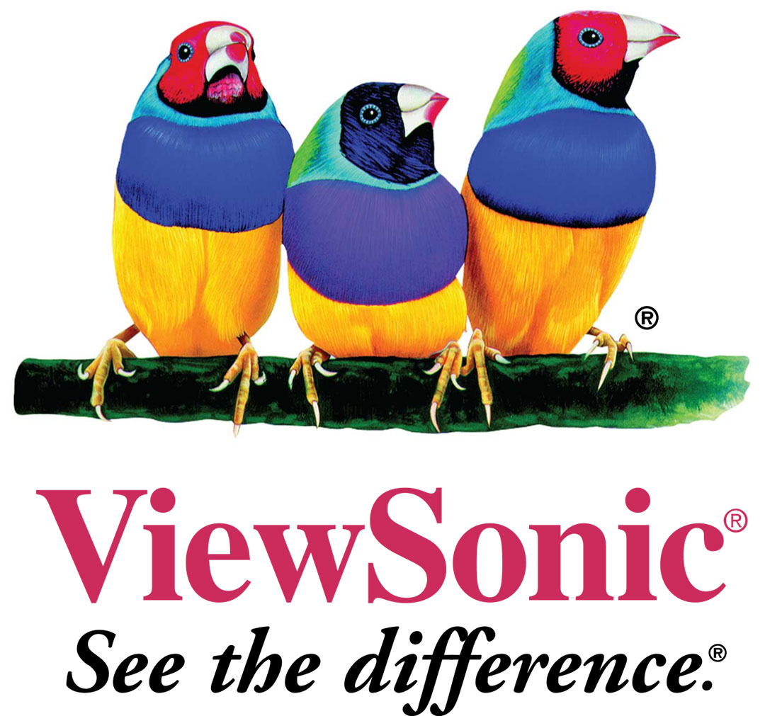 ViewSonic-logo-features-Gouldian-finches,-colorful-birds-of-Australia