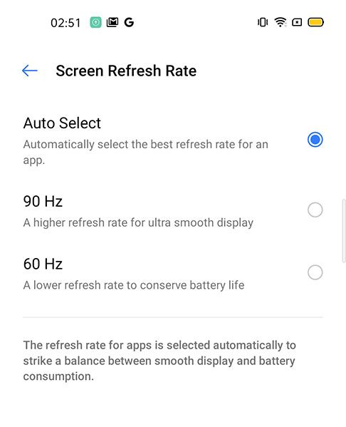 Realme_6-Display-Refresh_Rate_changed_to_90Hz