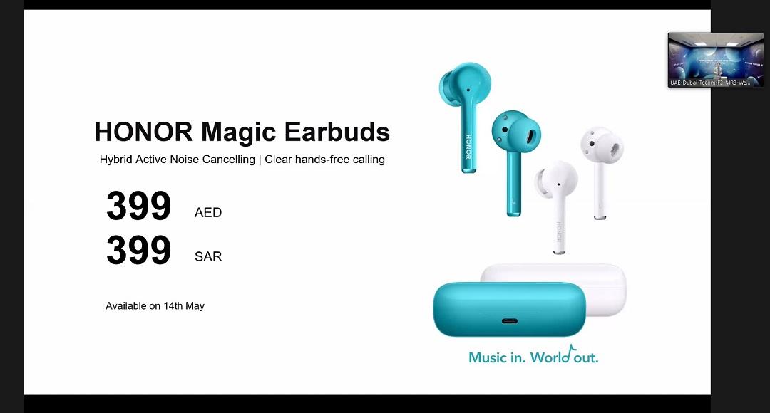 Honor Magic Earbud Price for UAE & KSA