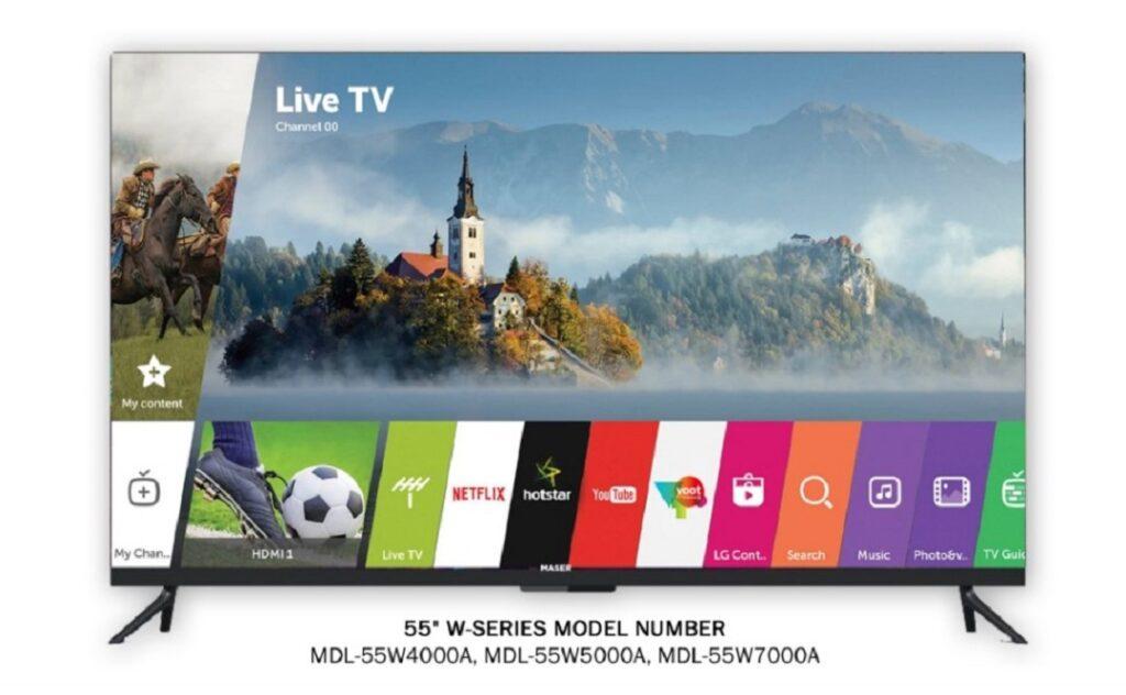 Maser 55 inchs LED TVs