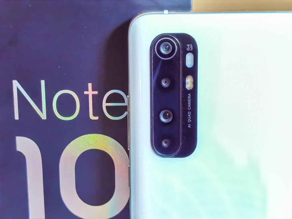 Xiaomi Note10Lite -Main Quad Cameras