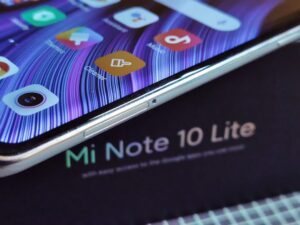 Xiaomi Note10Lite -Right Side - Dual SIM Tray