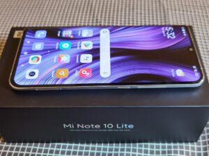 Xiaomi Note10Lite -Right Side - Vol_Rockers+ Power_Button & Dual SIM Tray