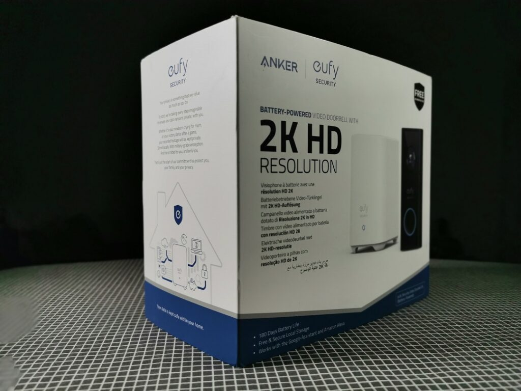 The Eufy Video Doorbell 2K (Battery-Powered) Package