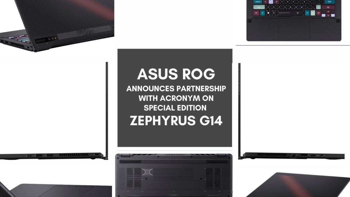 ROG Announces Partnership with ACRONYM on Special Edition Zephyrus G14