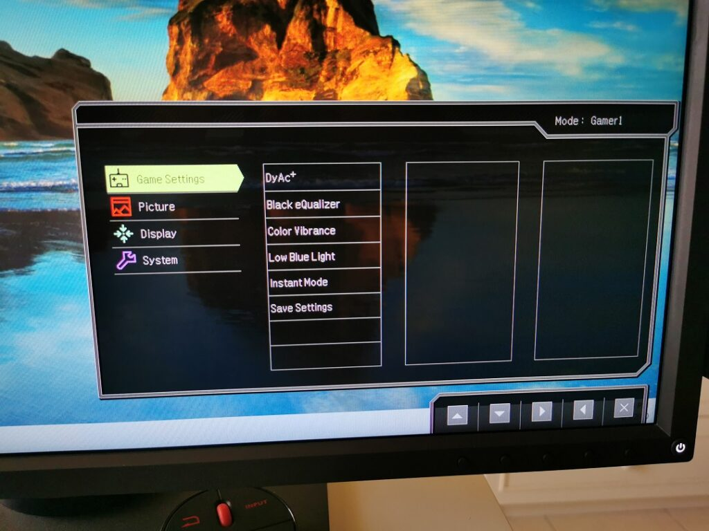 BenQ Zowie XL2746S - Setting up Gamer profile