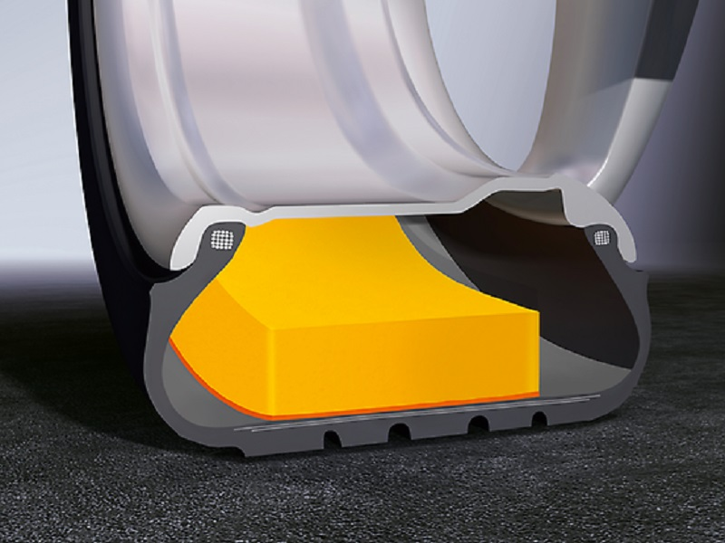 Continental Tyre- Foam inlay of the tyre, called ContiSilent technology