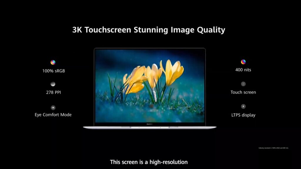 HUAWEI MateBook X - 3K TouchScreen Display