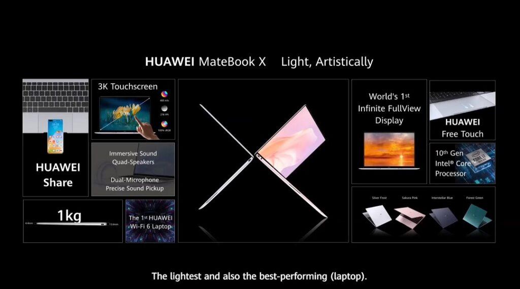 HUAWEI MateBook X - Details