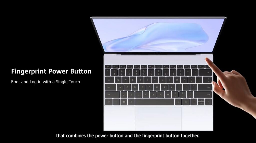 HUAWEI MateBook X - Power & Fingerprint Button