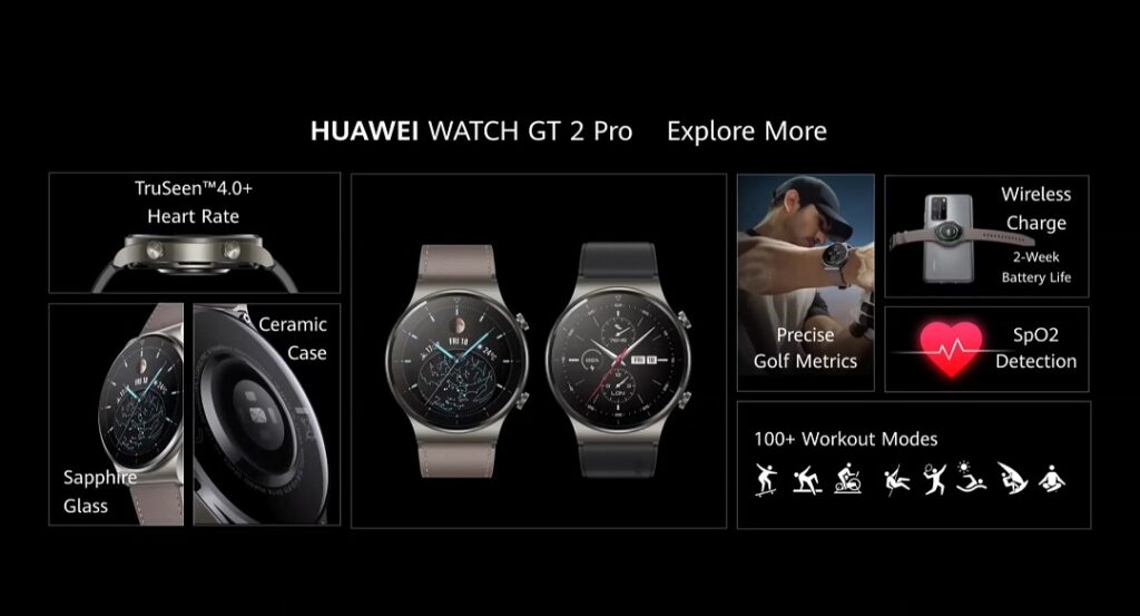 Huawei Watch GT2 Pro - features