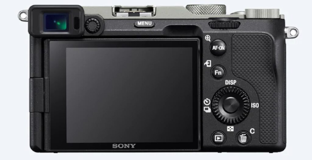 Sony Alpha 7C Full Frame Camera - Model ILCE-7C- Silver- Back View