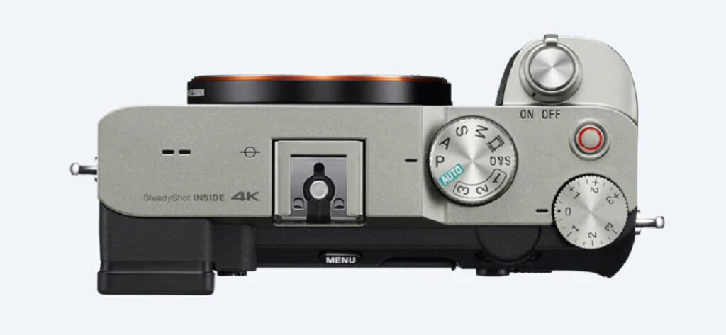 Sony Alpha 7C Full Frame Camera - Model ILCE-7C- Silver- Top View