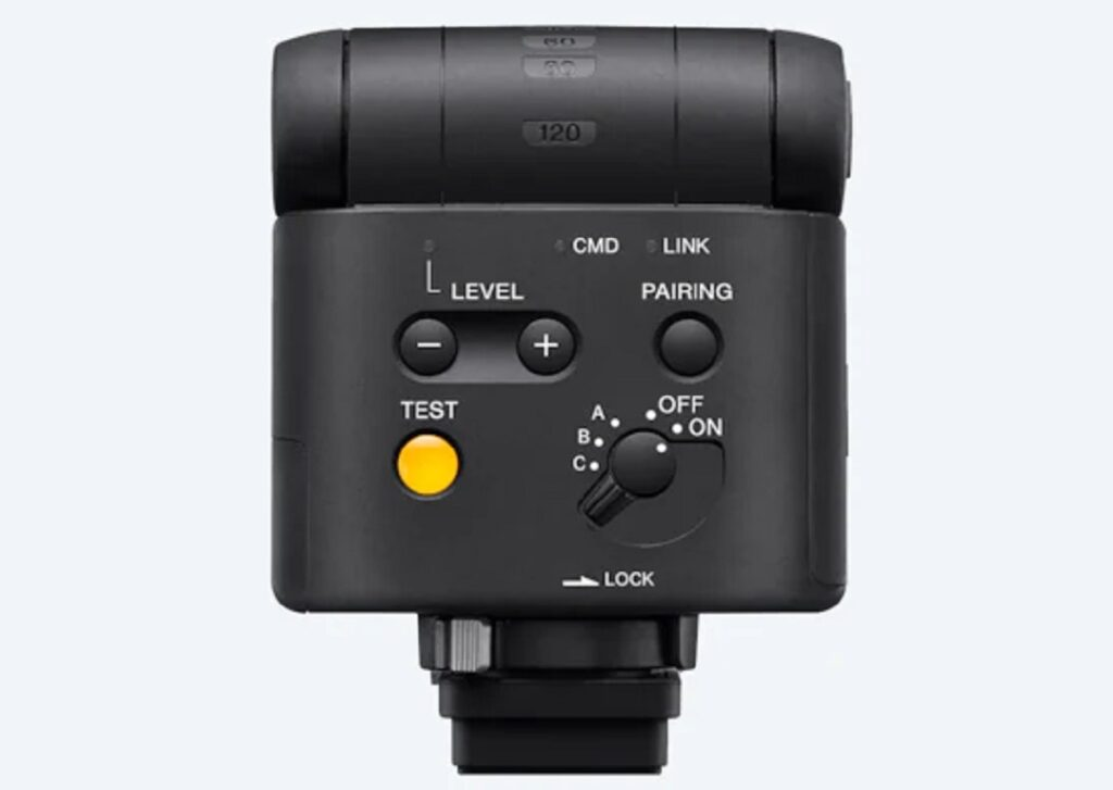 Sony HVL-F28RM flash- Back Panel view