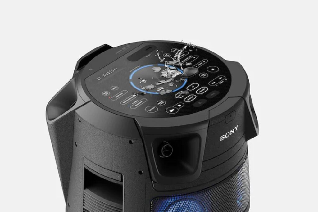 Sony MHC-V83D Splash proof control panel