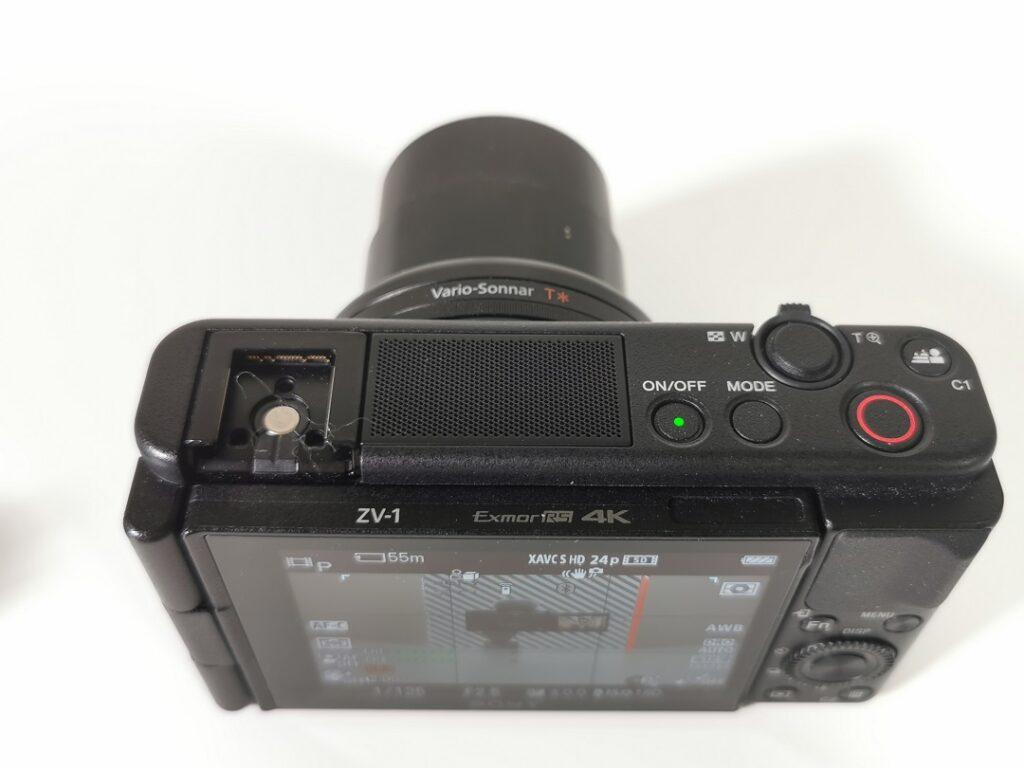 Sony ZV1 Camera-Hot shoe & Built-in 3 Capsule mic