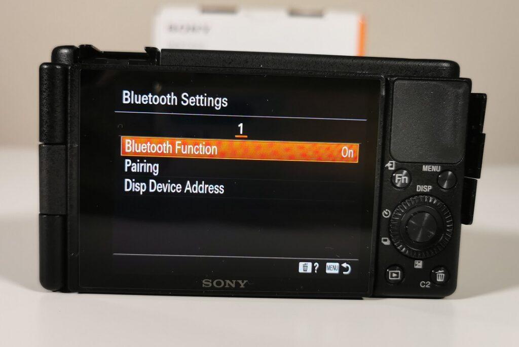 Sony ZV1 Camera-Connecting via Bluetooth