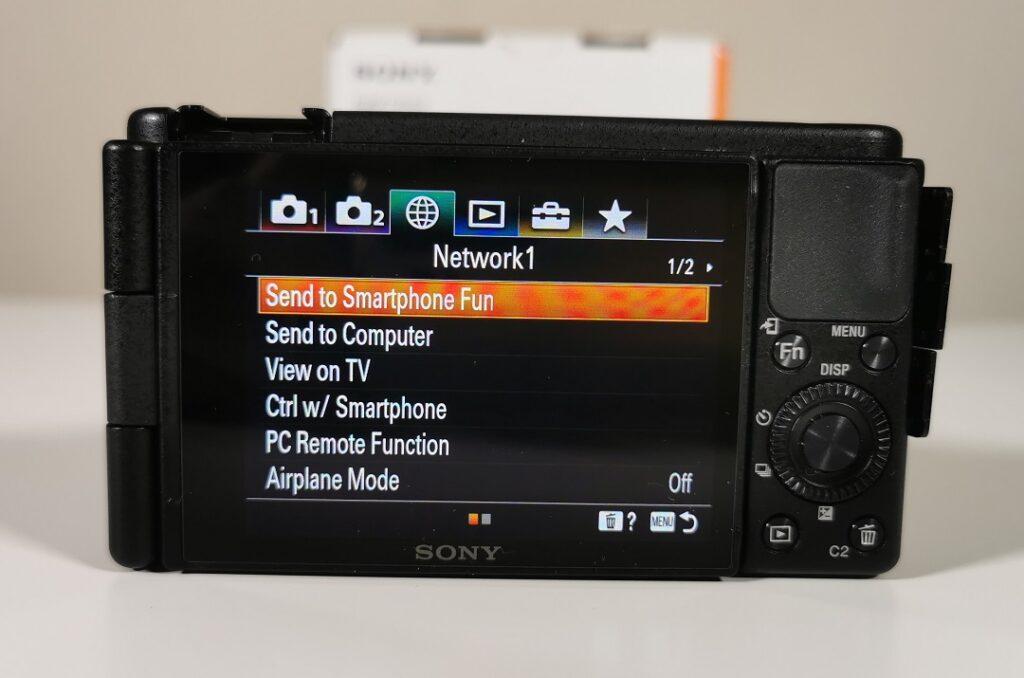 Sony ZV1 Camera-Directly send to smartphone via bluetooth
