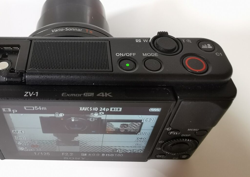 Sony ZV1 Camera-Record and control buttons