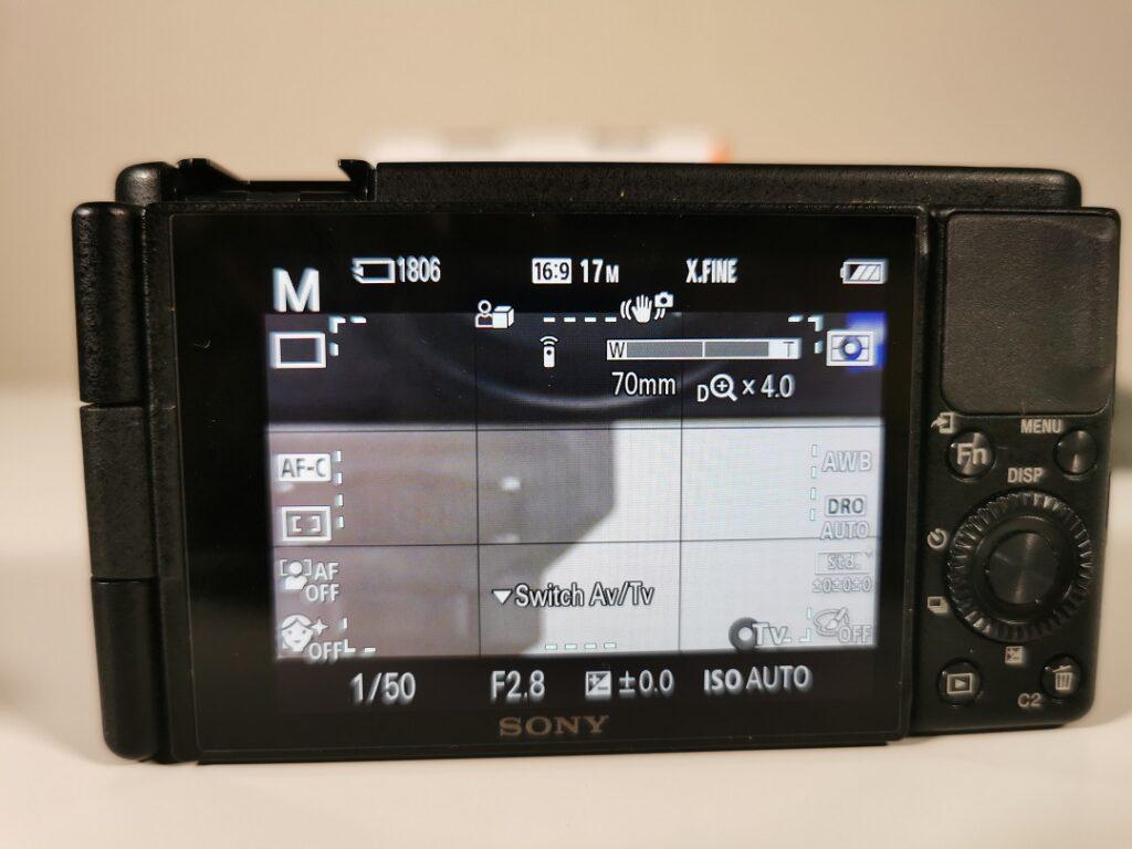 Sony ZV1 Camera-TouchScreen Zoom