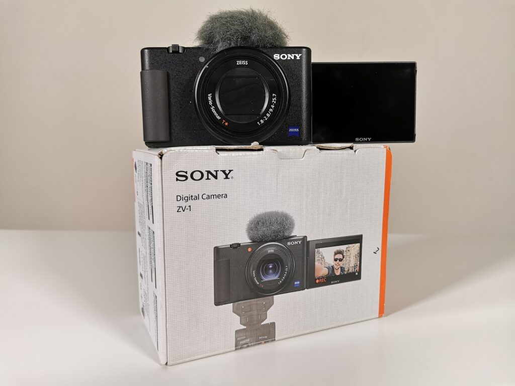 Sony ZV1 Camera with the Box