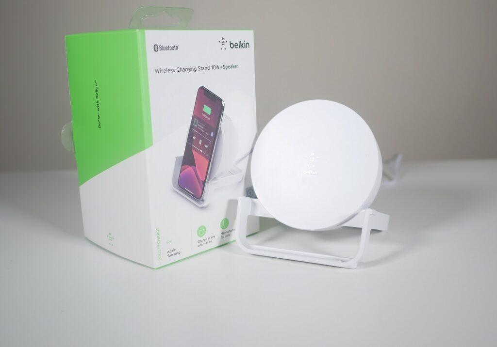 elkin Wireless Charging Stand 10W & Speaker -Package