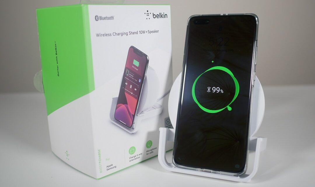 Review of Belkin Wireless Charging Stand 10W+ Speaker in the UAE