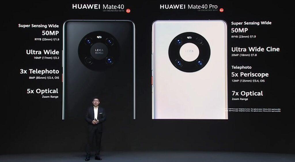 Huawei Mate 40 & Mate 40 Pro - Camera details