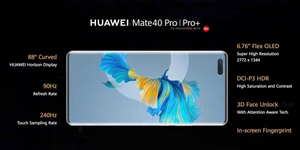 Huawei Mate 40 Pro & Pro_plus details